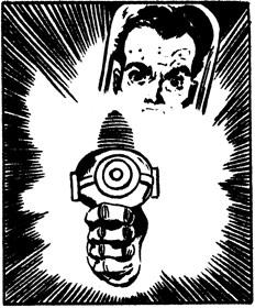Pistolas desintegradoras y parafernalia csi-fi pulp en Rolo, el Marciano Adoptivo