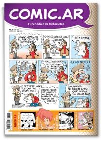 Comic.ar tiene historieta en cada página, incluso tapa y contra