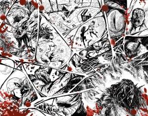 Doble página del número aniversario de Amazing Spiderman