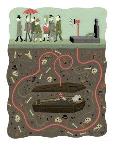La ilustración de Lucas Varela, pensada originalmente para España, cierra esta Fierro