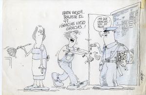 Maicas. 1983, aludiendo a un ejemplar de Humor secuestrado por la dictadura militar. Una de las donaciones al Archivo