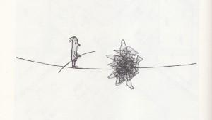 Los equilibristas, una de las imágenes que suele utilizar