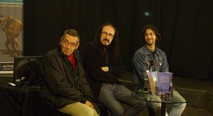 El español Sánchez Abuli en diálogo con los uruguayos Galizzi y Bergara