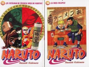 Naruto #15 y #16. Masashi Kishimoto. Larp.