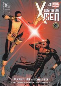 Los nuevos X-Men #2 (y Uncanny). Bendis/Immonen/Bachalo/Von Grawbadger. OvniPress.