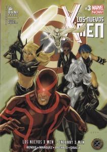 Los nuevos X-Men #3 (y Uncanny). Bendis/Marquez/Bachalo/Gracia. OvniPress.