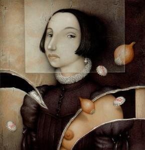 """""""Cebolla victoriana"""", uno de los muchos trabajos de Santellán"""