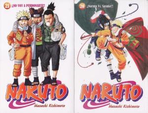 Naruto #20 y #21. Masashi Kishimoto. Larp.