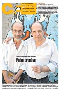 Alcatena, un dibujante con una imaginación desbordante. Mazzitelli es un guionista notable. (Foto: Guadalupe Lombardo)